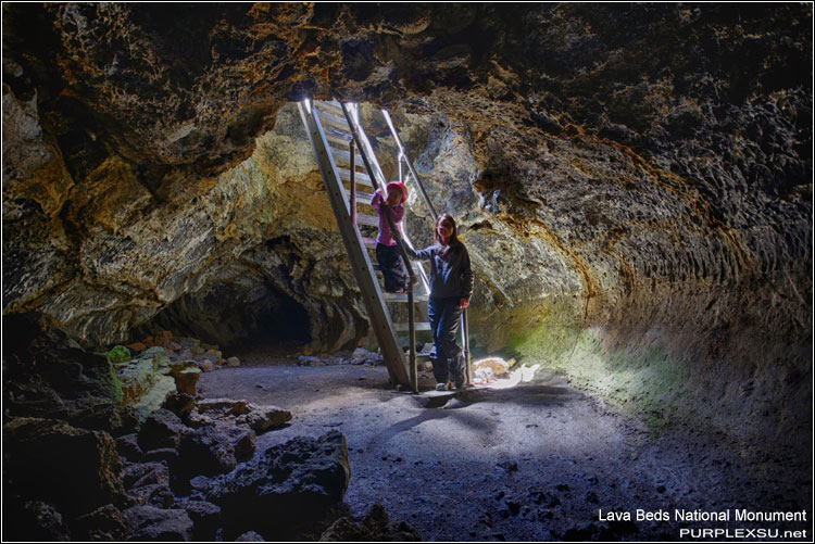 Lava Beds National Monument, Mushpot Cave